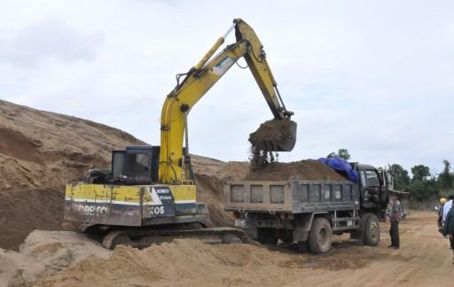 Giá cát xây dựng tăng
