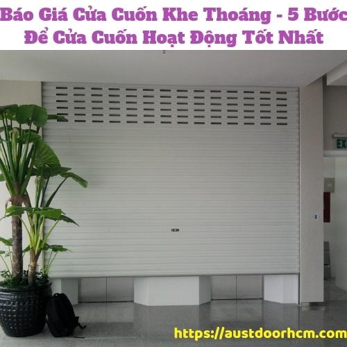 Báo Giá Cửa Cuốn Khe Thoáng