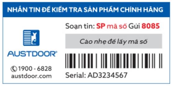mẫu tem bảo hành điện tử s