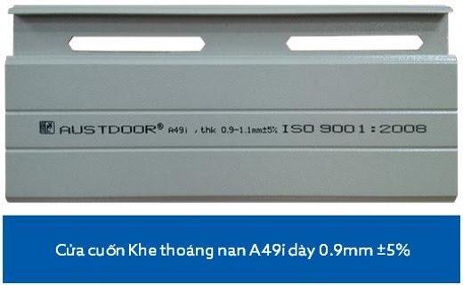 Cửa Cuốn Austdoor A49i - dày 0.9 - 1.1 mm