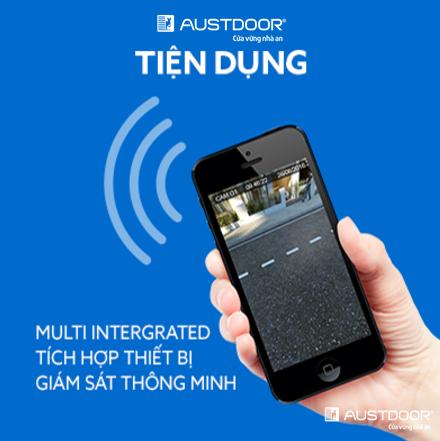 Các loại điều khiển cửa cuốn austdoor bằng điện thoại